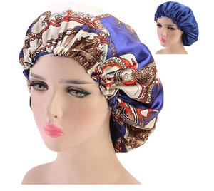 Tamaño grande Seda Satin Bonnet Night Sleep Cap Hat por One Planet La mejor calidad de doble lado Use la cubierta de la cabeza Bonnet para accesorios para el cabello hermoso