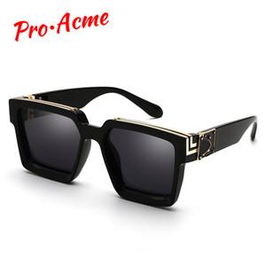 Pro Acme 2020 Quadrat-Sonnenbrille Männer Frauen Mode starkes Feld Gläser der Männer UV400 Männlich Promi PD1399