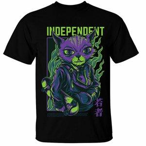 Independant-T-Shirt Männer Frauen Cat Skater Skate Boarding-Straße Grunge-freies Verschiffen Spitzen T-Shirt