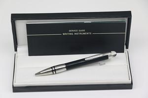 Cuerpo de bolígrafo Classi Design de lujo con cuerpo en negro y plata con la tapa de cristal enrejado Acero inoxidable Adorno de plata