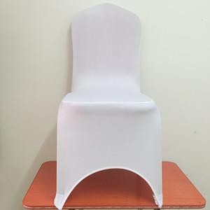 WedFavor 100pcs universale di bianco dello Spandex di Lycra di banchetto sedia Copristerzo Stretch matrimonio sedia per la decorazione hotel Partito Event