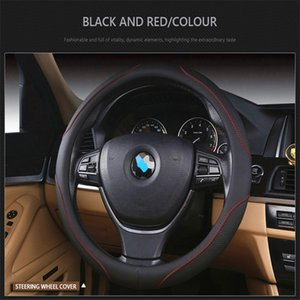 Leather Steering Wheel Cover for Smart Fortwo Genuine Leather Steering Wheel Cover Cubre Volante Couvre Volant Capa Volantes De Carro