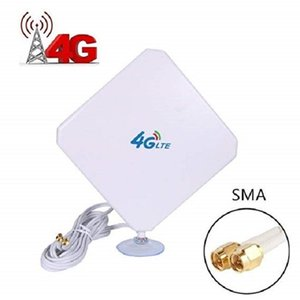 4G LTE Antenna SMA Antenna 35dBi High Gain Antenna with Suction Cup Dual Mimo SMA Male Connector 3G GSM WiFi Signal Booster for T200608