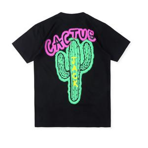 Européenne et la tendance hip-hop américain des hommes sans manches courtes T-shirt d'impression cactus rétro rap high street seller national networ Hotest