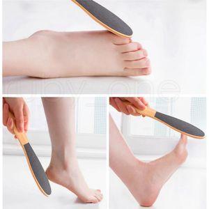 الخشب القدم الجلد القدم النظيفة Scruber الجلد الصلب مزيل بالأقدام فرشاة صحي الميت أقدام الجلد المزيل أداة العناية RRA1434