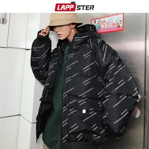 LAPPSTER Men Brief mit Kapuze Wattierte Jacke 2019 der Männer Thick japanischen Street Parkas männlichen koreanischen Designer Maxi-Blase Mantel