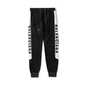 2019 Designer Hommes Femmes Pantalons Printemps Automne Automne Mode Sport Pantalon Toute la longueur Côté Lettre Broderie Taille Gratuite Haute Qualité EAR98165