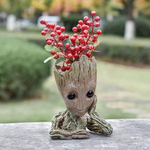 Flowerpot Treeman Baby Groot Planter Cute Green Plants Flower Pot Pen Holder Pencil Holder Office Organizer The Galaxy Groot Pen Pot