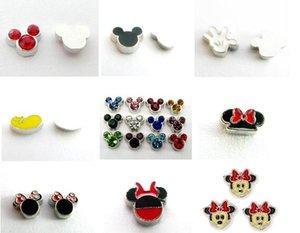 Çoktan Seçmeli 20 Adet / grup fare Yüzer Locket Charms Bellek Manyetik Madalyon Kolye Moda Jewelrys Için Fit