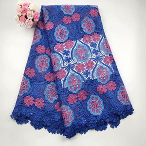 Newest royal blue hot Selling French Lace Wholesale Price High Quality African Tulle cord Lace 2016 Net Embroidered Lace Fabric 699988242580