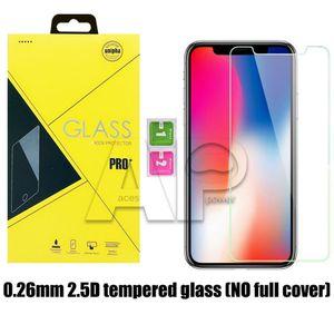 Para iPhone 11 Pro XS Max XR Película protectora de pantalla de cristal templado para Galaxy J3 Prime J7 Refine con el paquete al por menor