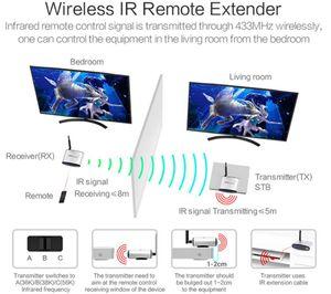 Uzaktan Extender PAT 265 Keycube IR ile PAT-265 2.4G Kablosuz AV ses video Sender 1 Verici + 1 Alıcı kablosuz paylaşım cihazı