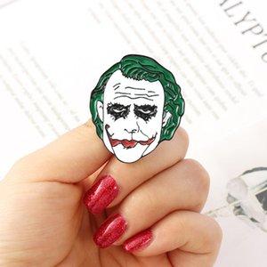 Le Joker Clown de film d'horreur en alliage de zinc Cravate émail Pins Badges Para shirt Vêtements Sac à dos Chaussures Médailles Décorations Broches