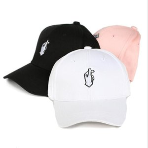 2020 Hot Sale Pink Hat Men Women Baseball Cap HipHop Curved Snapback Love Finger Gesture Adjustable Baseball Cap