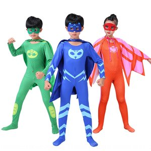 ZDhx1 Masked pajamas little hero costume little flying man Cloak clothing clothing cosplay animation costume Halloween Children's cloak Mask