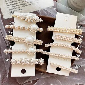 Frauen Haarnadel-Haar-Clips eleganter Partei Perle Bobby Pins Side Bangs Clips Spangen Kopfbedeckung für Mädchen Mode-Haar-Werkzeug Accessoires Schmuck
