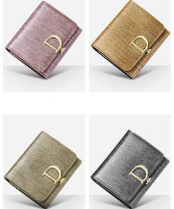 mulheres carteiras e bolsas 2019 Colchetes de Pressão Curto Clutch Wallet Moda Pequeno Feminino Bolsa Curto Purse Moda Mulheres Carteira