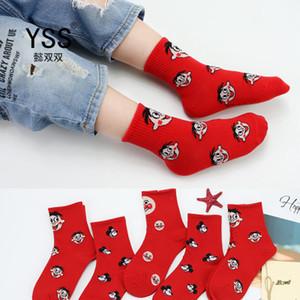 Calzini più rosso dei nuovi bambini di moda Carino personaggio dei cartoni animati Calze cotone pettinato bambino rossi calzini diverse scelte Every Day