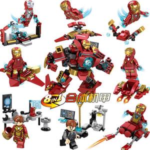 새로운 8 일 SY624 Legoing 아이언 맨 (Iron Man) 빌딩 블록 Hulkbuster 그림 DIY 모델 조립 벽돌 장난감 키즈