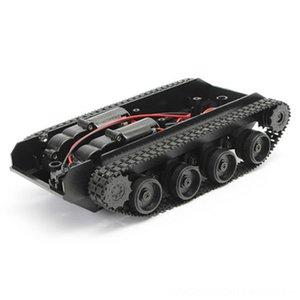Rc réservoir intelligent Robot Tank Car Kit châssis chenilles en caoutchouc sur chenilles Pour Arduino Pièces Accessoires télécommande électrique 130 Moteur Diy Robot