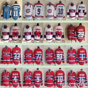 Montréal Canadiens Inverno Classico # 15 Jesperi Kotkaniemi 5 Bernie Geoffrion 19 Larry Robinson 9 Maurice Richard Men Hockey Jersey