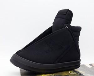 Köpekbalıkları Kafa Yardımcısı Siyah Bez Yüksek Yardım Gelgit Ayakkabı TPU Sütlü Alt Çizmeler Moda Kişilik Erkekler ve Kadınlar Çift Ayakkabı