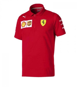 F1 Racing Ferrari Racing Suit Quick-Dry Top Moto Racing Polo