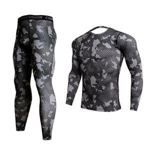 GEJINIDI100% Cotton Winter Men's O-Neck Warm Long Johns Set Ultra-Soft Thermal Undershirt merino Pajama T200415
