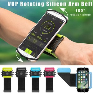 VUP Gerdirilebilir Kol bandı Spor Bisiklet iPhone X XR 8 7Plus için 180 Derece Dönebilen Ayarlanabilir Silikon Bileklik Cep Telefonu Tutucular Koşu