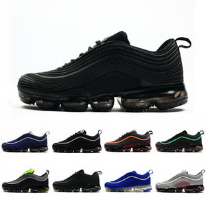 Nike air vapormax 97 shoes 40-47 Triple Preto Criados Almofada Undefeated Ultra OG Plus Men Running Shoes VPM Esportes Jogging Andando Azul Mens Formadores Athletic Sneakers