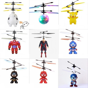 RC Drone Flying copter Ball Aircraft Helicopter Led Flashing Light Up Toys Sensor de inducción de juguete eléctrico Niños Niños Regalos de Navidad