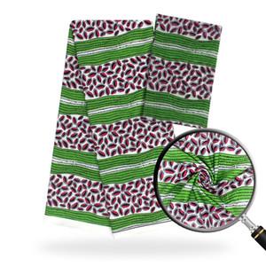 African Wax Prints Fabric Silk Satin Fabric 2019 Высокое Качество Африканский Шифон Для Партии Платье для вечеринок 4ЯДерс + 2 место / Шт. S190805