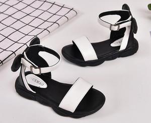 Designer Chaussures enfants été pour Bébés filles Noir Blanc Chaussures enfants Plage enfant en bas âge Chaussures Sandales taille 26-36