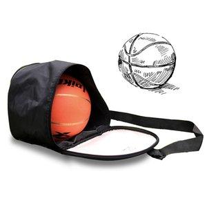 Cuoio Dell'unità di elaborazione Nero Basket Borsa A Tracolla Impermeabile sport Pallone Da Calcio Borse Borsa Calcio Pallavolo Carry Storage Gym Bag
