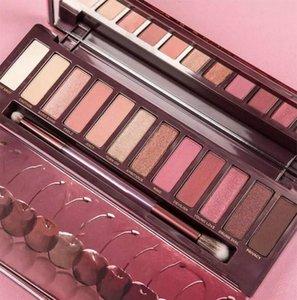 Make-up-Palette Cherry Eye Shadow Palette 12 Schattierungen mit Pinsel Matte Shimmer Highlighter Bronzer Palette Blush Free