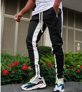 Ginásio Jogger as calças dos homens Slim Fit treino de corrida afilado Sweatpants Atlético Skinny Fit Track Pants Calças Men Pant
