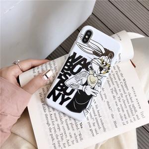 Funda de tatuaje de brazo de flor divertida de dibujos animados americano Bugs Bunny para iPhone 11 Pro Xs Max X XR 8 7 Plus funda de silicona suave Coque