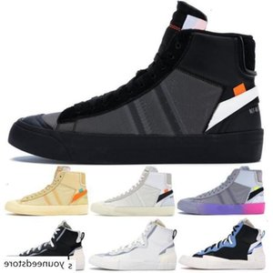 Mens Designer Blazers Mid Casual Shoes New 2020 Off Black White All Hallows Eve Women Sneakers Sacai Legend Blue Fashion Running Shoes