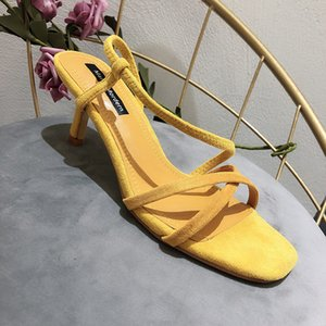 Celebrity Style Sandals Women's New Style Fashion Thin Heeled A- line with High Heel Shoes Versatile Temperment Large Size WOMEN