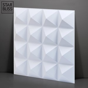 30x30cm 3D wall panel Cutting Geometric Diamond Carved Wood Adhesives Bottom Wall 3d Sticker Home Decor Decorative Panel