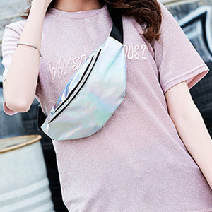 New Fanny Pack Multi-Function Steam Punk Leg Fashion Bag Reflective Laser Shoulder Bag Women's Belt Waist Pochete