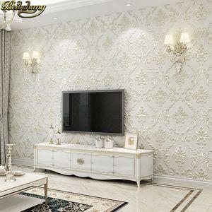 53X300cm Damasco europeo Papel tapiz floral para paredes 3 d Suelos con textura Papel de pared sala de estar Decoración del dormitorio