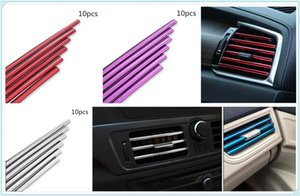 10pcs car auto protection strip personality air conditioning outlet trim strip for C-MAX Flex B-MAX Atlas Territory Formula
