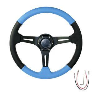 Cnspeeed Car Steering Wheel 14 polegadas 350 milímetros de derivação Auto Steering wheel Suede couro Rodas
