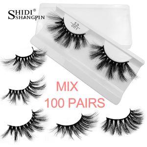 wholesale bulk 25mm mink lashes 20 30 40 50 100 pairs soft long false eyelashes natural fluffy fake eyelash extension eye makeup