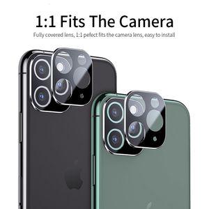 5pcs caldo in vetro temperato con l'obiettivo della macchina fotografica screen protector per iPhone Pro 11 Max 11 Pro len titanio set di protezione