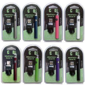 Baterias Hotsale Pré-aquecimento Vertex Vape Battery 350mAh Vape Pen 510 Tópico bateria para Thick Oil Vapor Voltage Variable com carregador USB