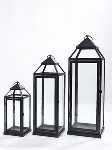 Large Iron Candle Holders Garden Art Wind Lamp Metal Retro Creative Candlestick Outdoor Wedding Decoration Candle Lantern FC043