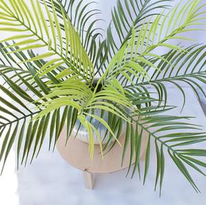 Искусственные растения Поддельный Fern Палм украшения завод Поддельные Зелень завод Искусственный Palm Tree Стебель зеленый Украшение стены LXL509A