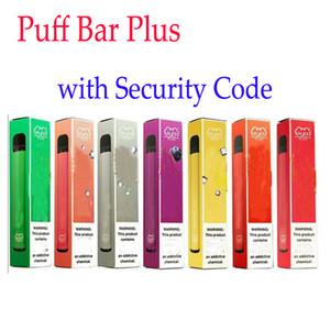 800+ Puff Bar Artı Yeni Puff Artı 550mAh 3.2ml Tek Öncesi Dolgulu Vape Kalem POD Çubuk Stili Cihaz Starter Kit ile Güvenlik Kodu Eon Posh